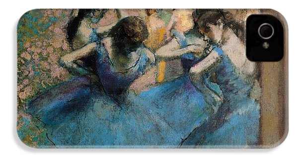Dancers In Blue IPhone 4 Case