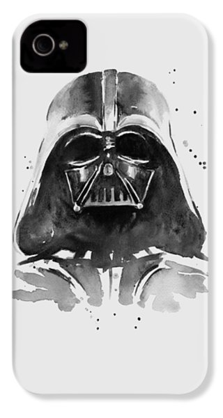 Darth Vader Watercolor IPhone 4 Case by Olga Shvartsur