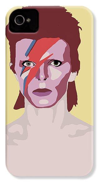 David Bowie IPhone 4 Case by Nicole Wilson