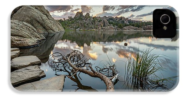 IPhone 4 Case featuring the photograph Dawn At Sylvan Lake by Adam Romanowicz