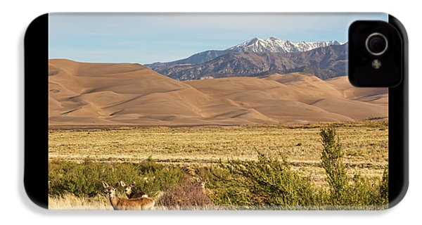 IPhone 4 Case featuring the photograph Deer And The Colorado Sand Dunes by James BO Insogna