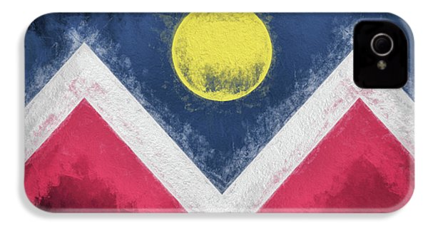 IPhone 4 Case featuring the digital art Denver Colorado City Flag by JC Findley
