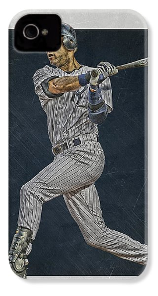 Derek Jeter New York Yankees Art 2 IPhone 4 Case