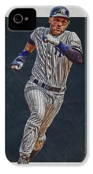 Derek Jeter New York Yankees Art 3 IPhone 4 Case