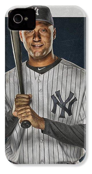 Derek Jeter New York Yankees Art IPhone 4 Case