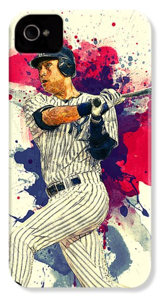 Derek Jeter IPhone 4 / 4s Case by Taylan Apukovska