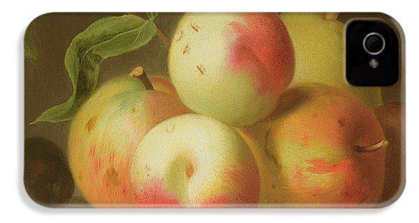 Detail Of Apples On A Shelf IPhone 4 Case by Jakob Bogdany
