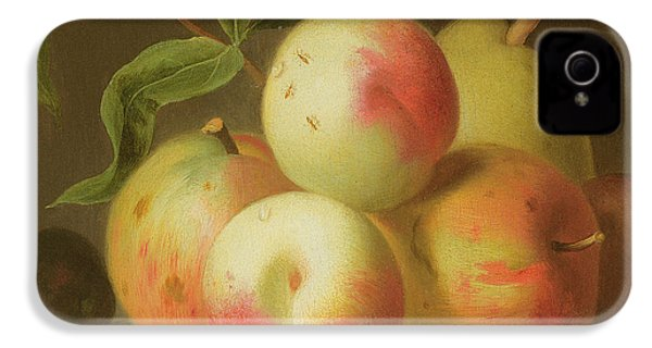 Detail Of Apples On A Shelf IPhone 4 Case by Jakob Bogdany