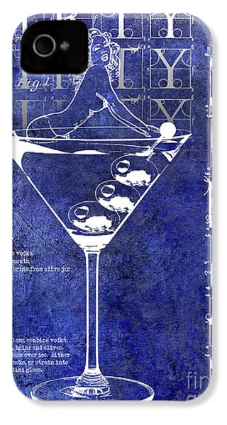 Dirty Dirty Martini Patent Blue IPhone 4 / 4s Case by Jon Neidert