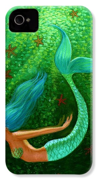 Diving Mermaid Fantasy Art IPhone 4 / 4s Case by Sue Halstenberg
