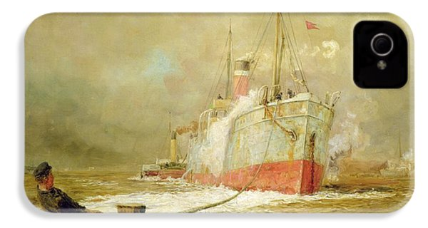 Docking A Cargo Ship IPhone 4 Case