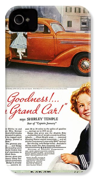 Dodge Automobile Ad, 1936 IPhone 4 Case by Granger