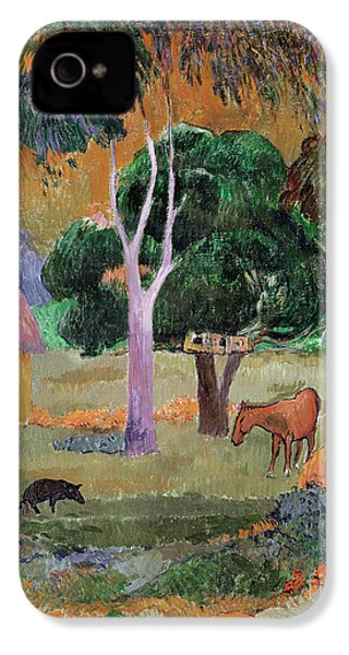 Dominican Landscape IPhone 4 Case by Paul Gauguin