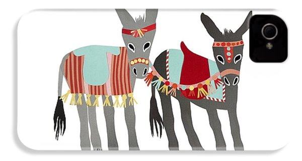 Donkeys IPhone 4 Case by Isoebl Barber