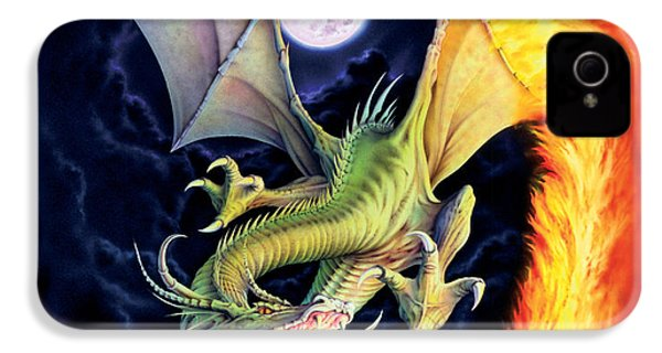 Dragon Fire IPhone 4 / 4s Case by The Dragon Chronicles