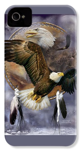 Dream Catcher - Spirit Eagle IPhone 4 / 4s Case by Carol Cavalaris