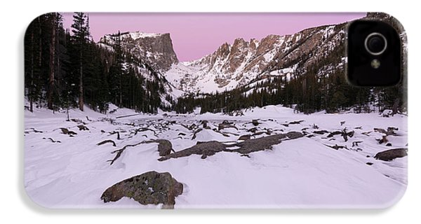 IPhone 4 Case featuring the photograph Dream Lake - Pre Dawn by Aaron Spong