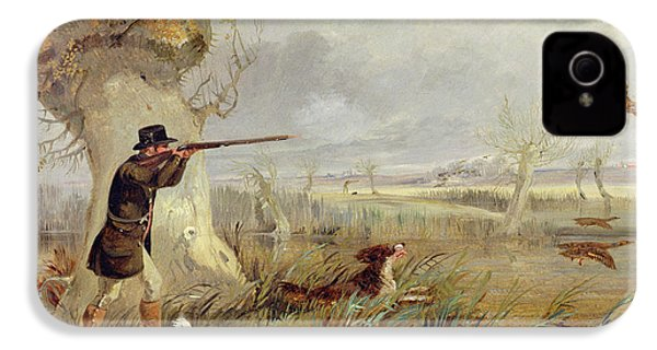 Duck Shooting  IPhone 4 Case by Henry Thomas Alken