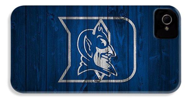 Duke Blue Devils Barn Door IPhone 4 Case by Dan Sproul