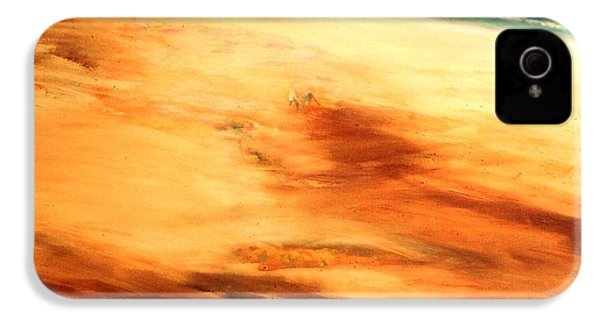 IPhone 4 Case featuring the painting Dune Shadows by Winsome Gunning