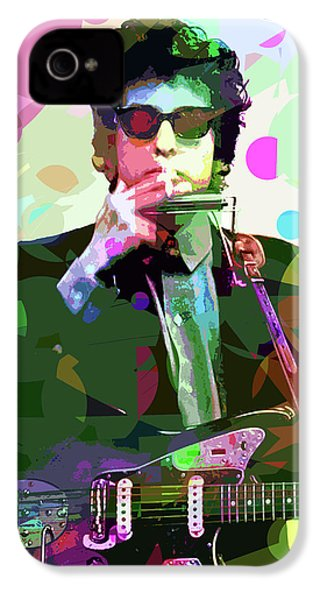 Dylan In Studio IPhone 4 Case by David Lloyd Glover