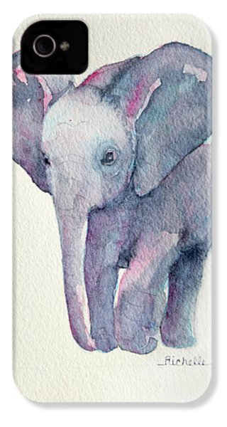 E Is For Elephant IPhone 4 / 4s Case by Richelle Siska