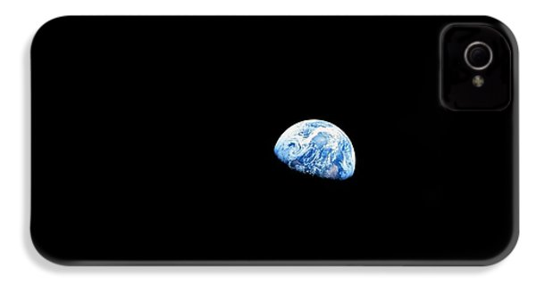 Earthrise Over Moon, Apollo 8 IPhone 4 / 4s Case by Nasa