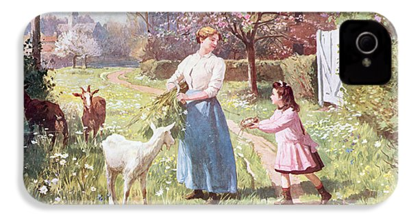 Easter Eggs In The Country IPhone 4 Case by Victor Gabriel Gilbert