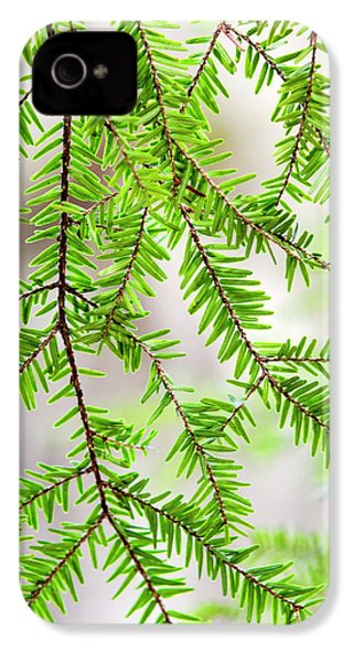 IPhone 4 Case featuring the photograph Eastern Hemlock Tree Abstract by Christina Rollo