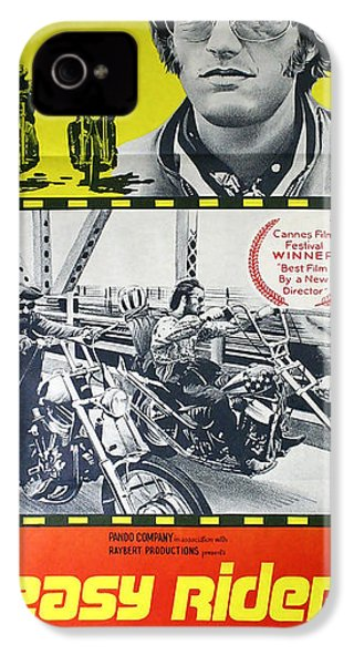 Easy Rider Movie Lobby Poster  1969 IPhone 4 Case by Daniel Hagerman