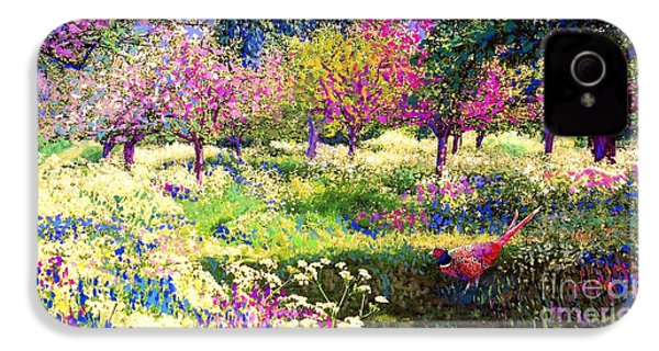Echoes From Heaven, Spring Orchard Blossom And Pheasant IPhone 4 Case
