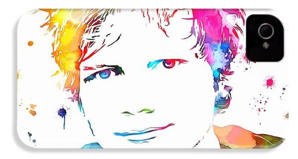 Ed Sheeran Paint Splatter IPhone 4 Case by Dan Sproul