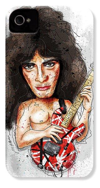 Eddie Van Halen IPhone 4 Case by Gary Bodnar