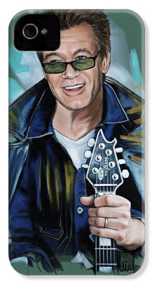 Eddie Van Halen IPhone 4 Case by Melanie D