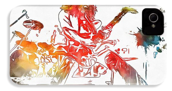 Eddie Van Halen Paint Splatter IPhone 4 Case by Dan Sproul