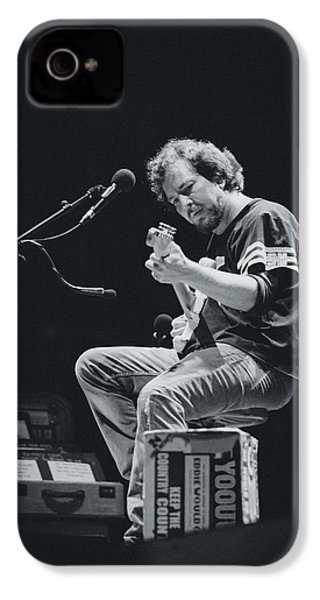 Eddie Vedder Playing Live IPhone 4 Case by Marco Oliveira