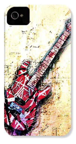 Eddie's Guitar Variation 07 IPhone 4 Case by Gary Bodnar