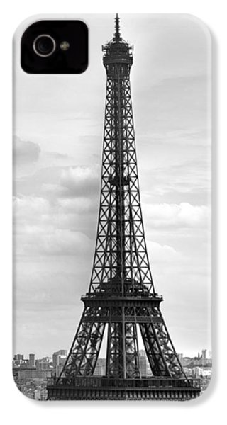 Eiffel Tower Black And White IPhone 4 Case by Melanie Viola