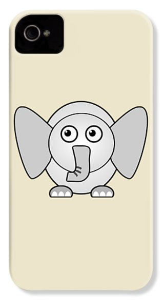 Elephant - Animals - Art For Kids IPhone 4 / 4s Case by Anastasiya Malakhova