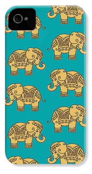 Elephant Pattern IPhone 4 Case by Krishna Kharidehal
