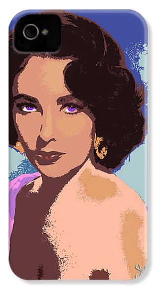 Elizabeth Taylor IPhone 4 Case by John Keaton