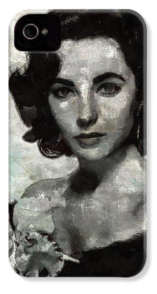 Elizabeth Taylor IPhone 4 Case by Mary Bassett
