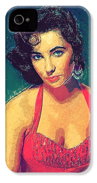 Elizabeth Taylor IPhone 4 Case by Taylan Apukovska