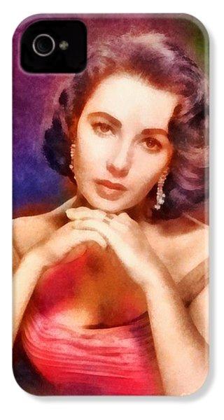 Elizabeth Taylor, Vintage Hollywood Legend IPhone 4 Case by Frank Falcon
