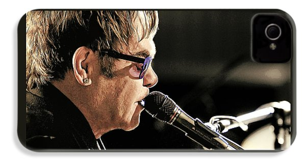 Elton John At The Mic IPhone 4 Case by Elaine Plesser