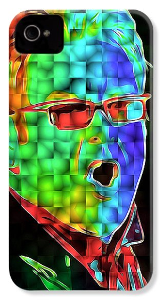 Elton John In Cubes 2 IPhone 4 Case by Yury Malkov