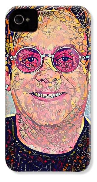 Elton John Triangles Portrait IPhone 4 Case by Yury Malkov
