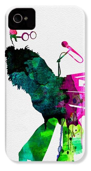 Elton Watercolor IPhone 4 Case by Naxart Studio