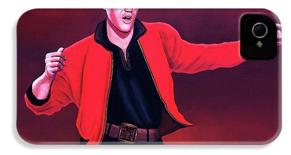 Elvis Presley 4 Painting IPhone 4 Case by Paul Meijering