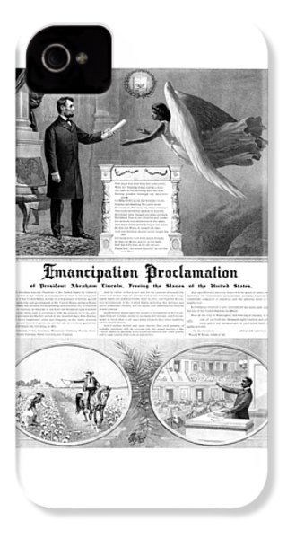 Emancipation Proclamation IPhone 4 Case by War Is Hell Store